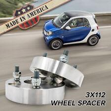 "3x112 - 3x112 (3 Lug Smart Car)   1.5"" Thick Wheel Spacers   x2 USA MADE"