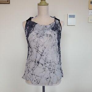 Akina Silk Grey Marble Vest Tank Sleeveless Top Singlet Women's Size 1