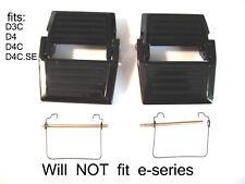 2 Rainbow vacuum water basin/pan latch/clip assembly w/pin+spring: D3C,D4,D4C.SE