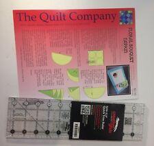 Creative Grids Quick Trim Ruler & Circle 3-1/2in X 12-1/2in Rectangle + Pattern