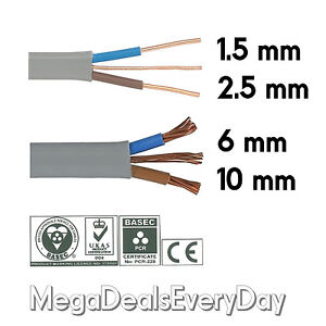 Twin and Earth T&E Electric Cable Wire | Lights Electrical Socket Cooker Shower