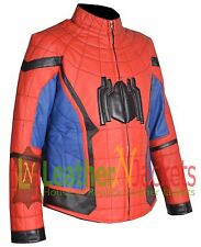LNJ New Spider-Man Homecoming Movie Faux Leather Jacket With Free Shipping.