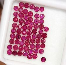 Natural Ruby Round Cut 2 mm Lot 25 Pcs 1.06 CTS Red Pink Shade Loose Gemstones