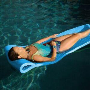"""Texas Rec 70"""" x 25"""" x 1.5"""" Serenity Pool Foam Mattress Float - Marina Blue"""