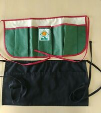 National Home Garden Club Apron 3 Large Tool Pockets New plus 1 black chef apron