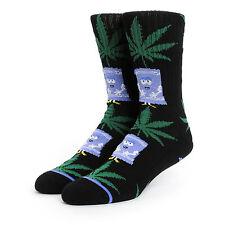 HUF x South Park Towelie Weed Plantlife Leaf Crew Socks Black OSFA RARE