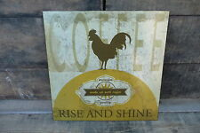 RISE and SHINE Wake Up With Coffee = Kitchen Diner Cafe Vintage METAL SIGN