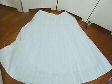 rodney clark white linen a line full gored skirt