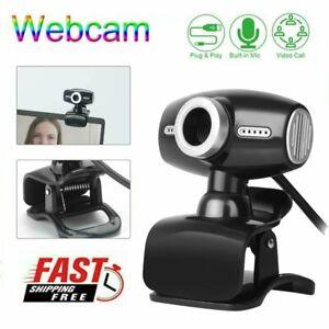 HD 480P Webcam Kamera USB 2.0 mit Mikrofon für PC Laptop Computer Notebook