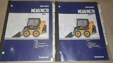 Volvo Mc60 Mc70 Skid Steer Loader Service Shop Repair Manual Book Set