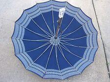 Antique Vintage Used Blue Umbrella Parasol good for decor