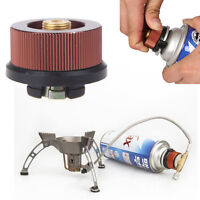 Outdoor Camping Burner Conversion Head Stove Connector Gas Bottle Adaptor GT