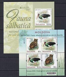 Moldova 2021 CEPT Europa Birds, Cranes, Owls MNH Booklet