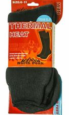 Thermal Heat Socks In Black North Peak Design UK Size 6-11 - Scottish Tartan