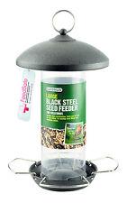 Gardman Grande in Acciaio Nero Seme Alimentatore facile riempimento facile da pulire in metallo Feeder a01513
