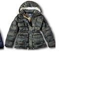 NWT Abercrombie Fitch Women's Down-Filled Puffer Coat Jacket XS olive camo