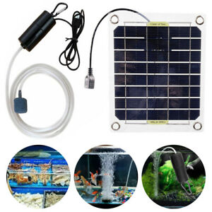 20W Solar Powered Water Oxygen Pump Aerator Fish Tank Aquarium Oxygenator Pool
