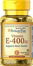 VITAMIN E-400 IU SUPPORT HEART HEALTH IMMUNE SYSTEM CARDIO SUPPLEMENT 50 SOFTGEL