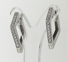 Snap Closure Hoop Not Enhanced White Gold Fine Earrings
