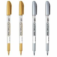 Craft Gold&Silver Drawing Writing 1.5mm Refill Paint Marker Pen Metal Color