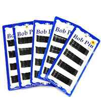 Korean Invisible Hair Clips Flat Top Bobby Pins Grips Salon Barrette Black 60Pcs