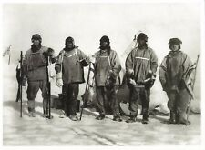 Postcard HR Bowers Photographer South Pole 1912 Scott Expedition Members MINT