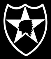 2nd Infantry Division Vinyl Window Sticker Decal - 2ID Indianhead Second ID