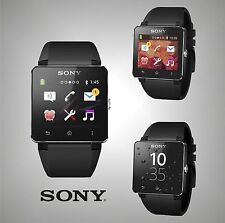 """Unisex - Branded Sony Water Protected Android Watch Black Smartwatch 2 LCD 1.6"""""""