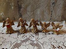 Vintage Miniature Handpainted Angel Ornaments West Germany (5)