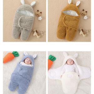 Plush Cotton NewBorn Baby Boy/Girl Swaddle Blanket Wrap Sleeping Bag 3-6 Months