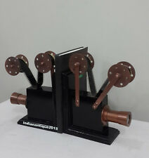 Vintage Style Film Projector Wooden Bookend Set of 2