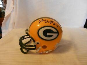 Steve Wright #72 Green Bay Packers Signed Mini Helmet
