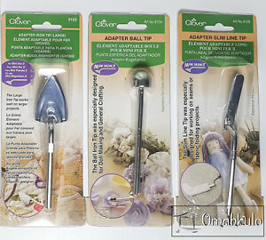 CLOVER - Mini Iron II Tip Set of 3 Tips -  Includes Large, Slimline and Ball Tip