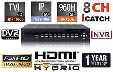 8 Channels HD H.264 Hybrid Security DVR/NVR TVI/960/IP/Cloud/Audio/Mobile