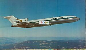 """FRONTIER AIRLINES 1969 FRONTIERLAND ROUTE MAP BROCHURE BOEING 727-200  32"""" X 26"""""""