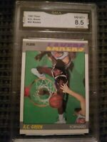 1987-88 Fleer A.C Green RC #42 GMA 8.5