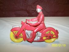 VINTAGE AUBURN RUBBER TOY # 530 POLICE MOTORCYCLE ~ HARLEY DAVIDSON MOTORCYCLE