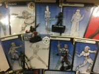 Star Wars Miniatures Randomized Lot of 10 Rares With Cards