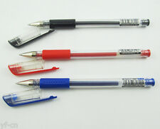 1pc M&G Q7 0.5mm Pipe Blue Black Red Gel Ink Rolling Ball Point Pens 3 Colors