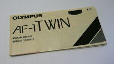 Original User Instruction Manual for Olympus AF-1 Twin Camera
