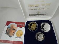 ISRAEL 1996 P.M. YITZHAK RABIN 1oz PURE GOLD & 2 SILVER COINS SET +ORIG BOX +COA