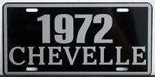 1972 72 CHEVELLE METAL LICENSE PLATE SS SUPER SPORT 327 350 396 454 CONVERTIBLE