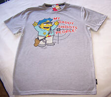 The Simpsons Ralph Mens Grey Printed T Shirt Size M New
