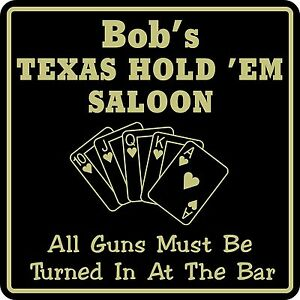 Personalized Texas Hode Em Sign Bar Beer Cards Holdem Gift  #5 Custom USA Made