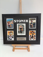UNIQUE PROFESSIONALLY FRAMED, SIGNED CASEY STONER PHOTO COLLAGE WITH PLAQUE.
