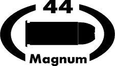 44 MAGNUM gun pistol Ammunition Bullet exterior oval decal sticker car or wall