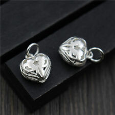New 925 Sterling Silver Handmade Special Heart Charm DIY Pendant 10pcs/Lot