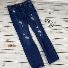 Abercrombie Kids Girls Jeans 13/14 High Rise Jegging Distressed