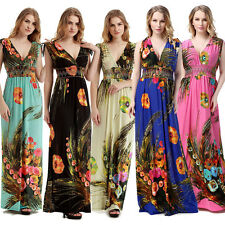 UK Plus Size Woman Summer Maxi Long Evening Dress M-6X UK 10-28 US 8-26