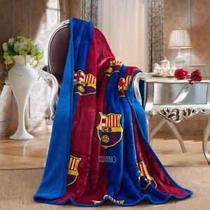 "FC Barcelona Luxury Sherpa Throw Blanket 50""x 60"""